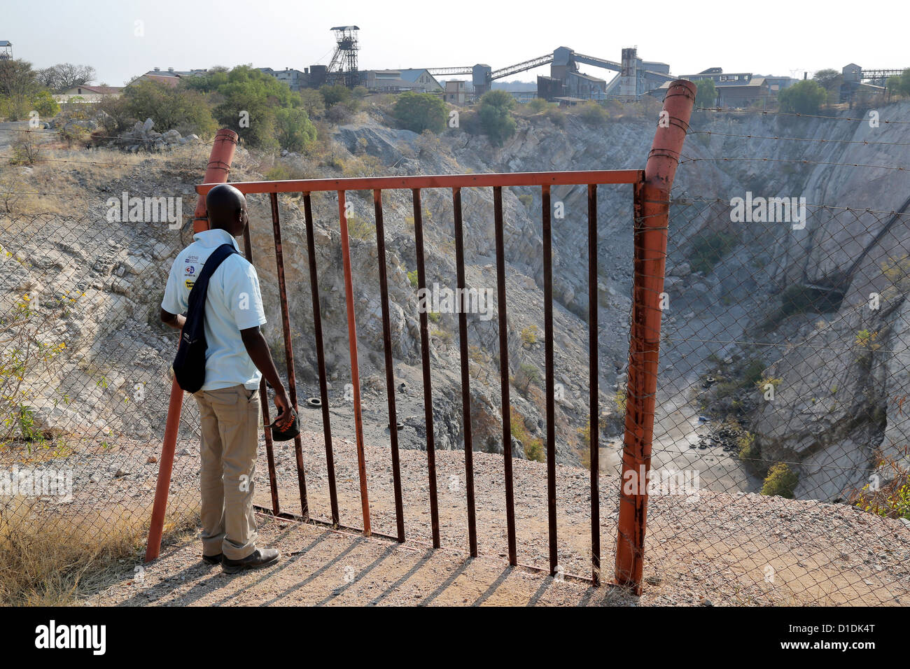 Tsumeb, Namibia. Open copper pit of the former copper mine - Stock Image