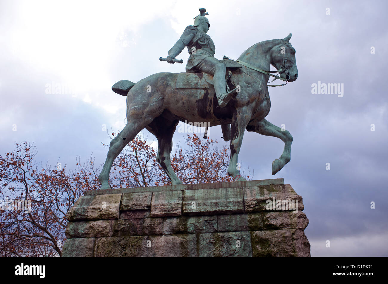 Emperor Wilhelm II statue, Cologne, Germany. Stock Photo