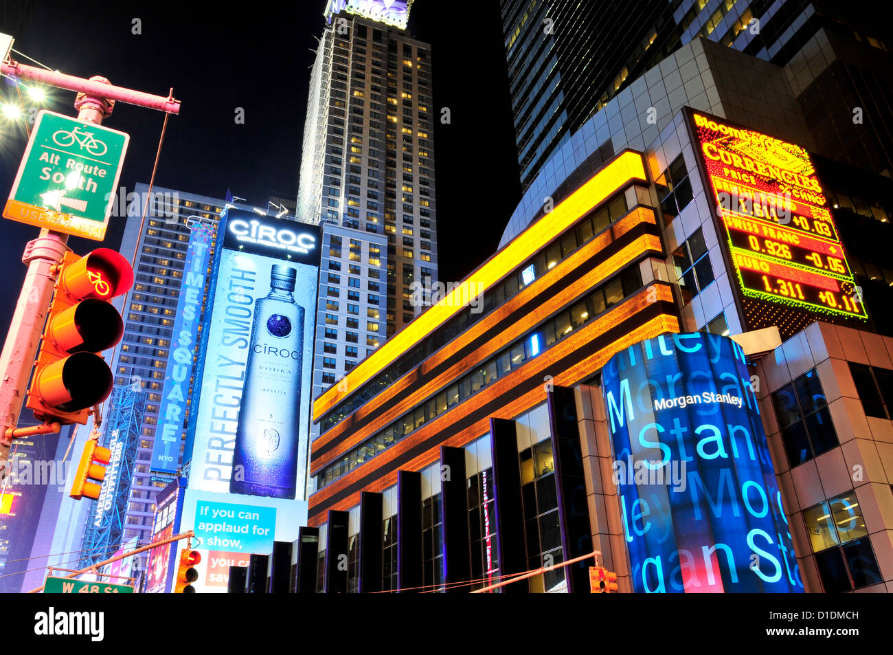 morgan stanley building times square 42nd street new york city stock photo 52547169 alamy. Black Bedroom Furniture Sets. Home Design Ideas