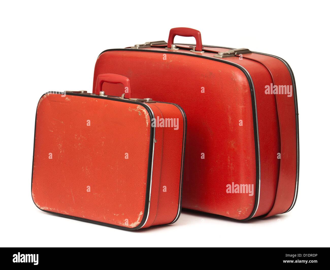 Pair of vintage 1950's 'Debroyal' suitcases by Debenhams (UK retailer) - Stock Image