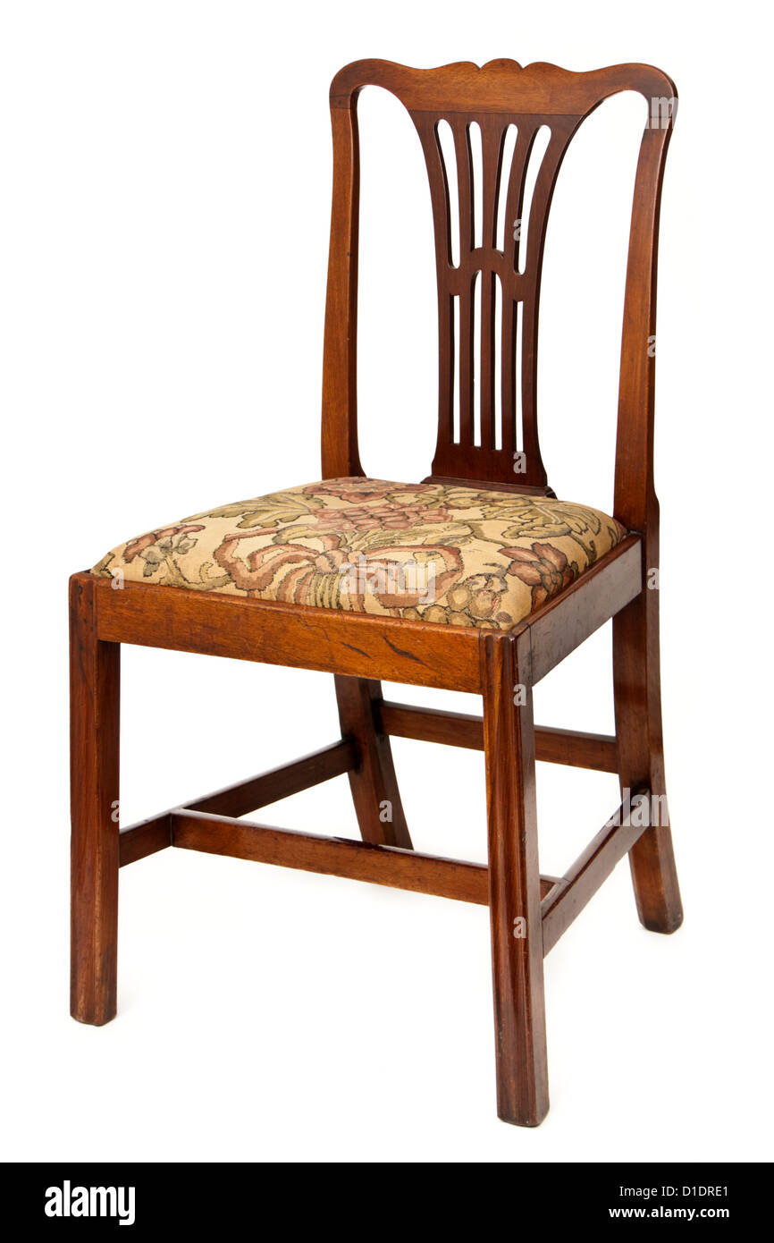 Antique mahogany upholstered dining chair - Antique Mahogany Upholstered Dining Chair Stock Photo: 52549561 - Alamy