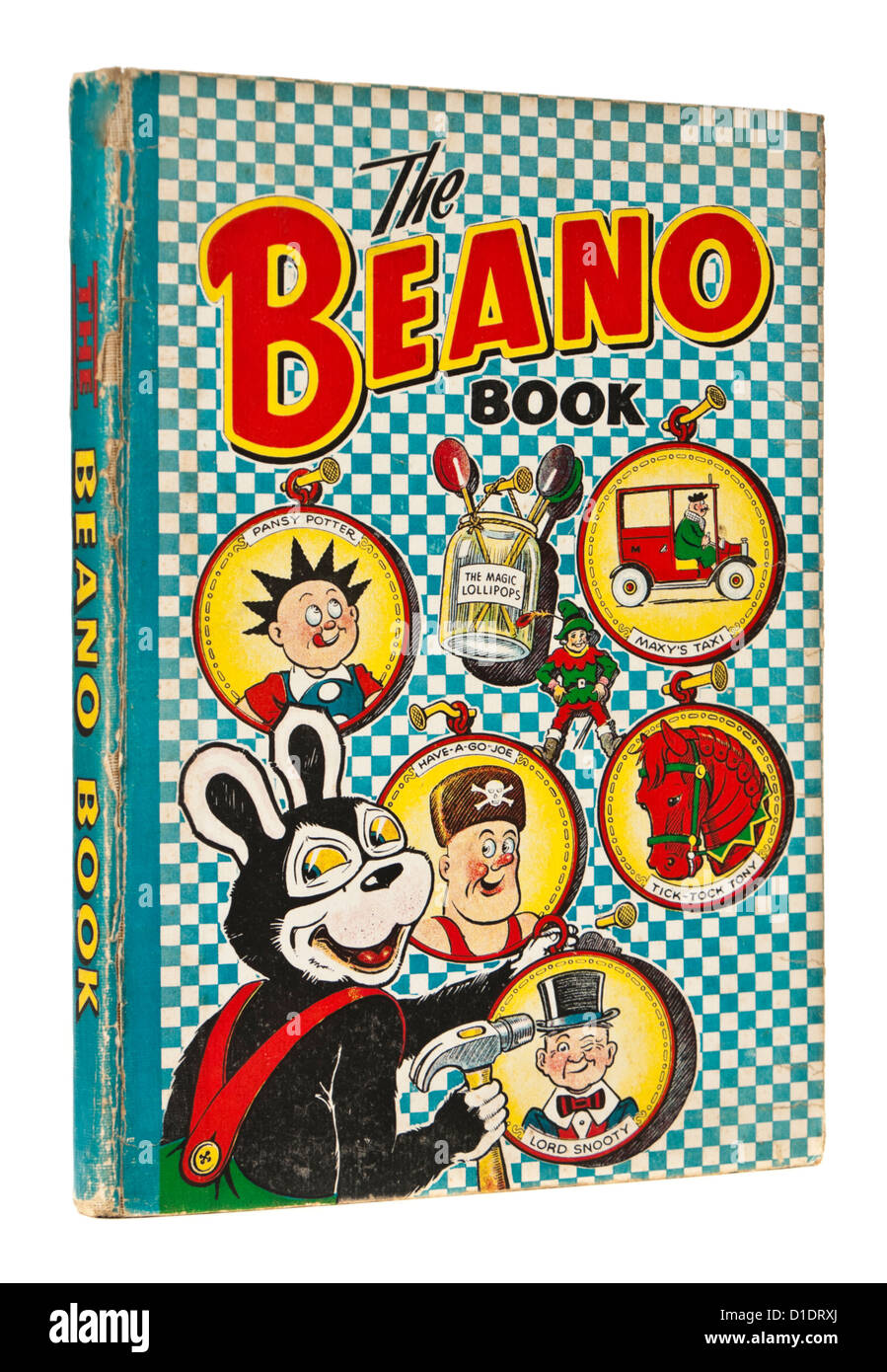 Rare 1952 Beano Annual by D.C. Thomson & Co, featuring Biffo the Bear, Lord Snooty, Pansy Potter, Have-a-Go - Stock Image