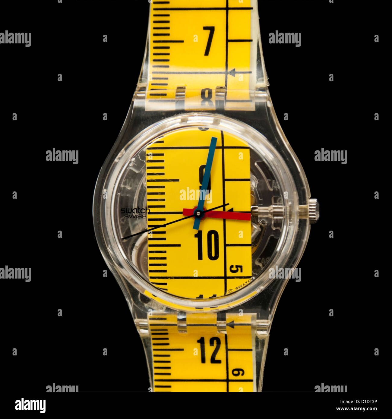 Swatch 'Metrica' wristwatch (GK263) from the Summer 1998 collection - Stock Image