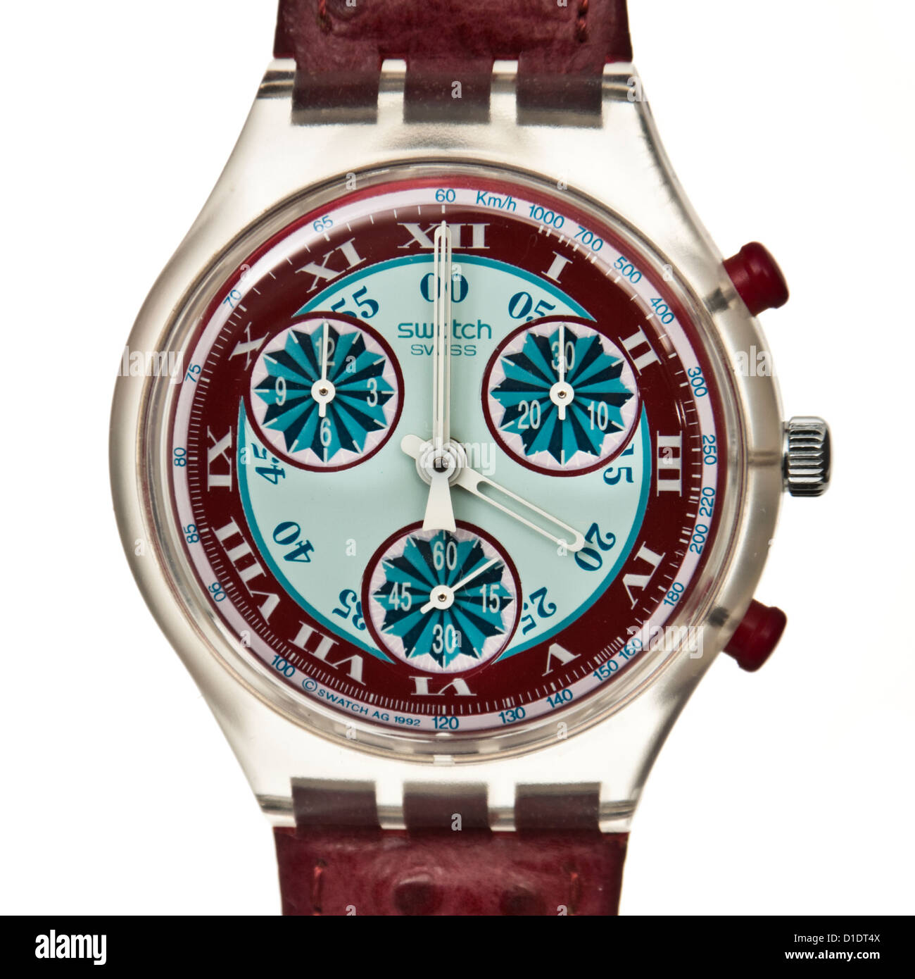 Swatch 'Windmill' chronograph watch (SCK103) from the Fall / Winter 1993 collection - Stock Image