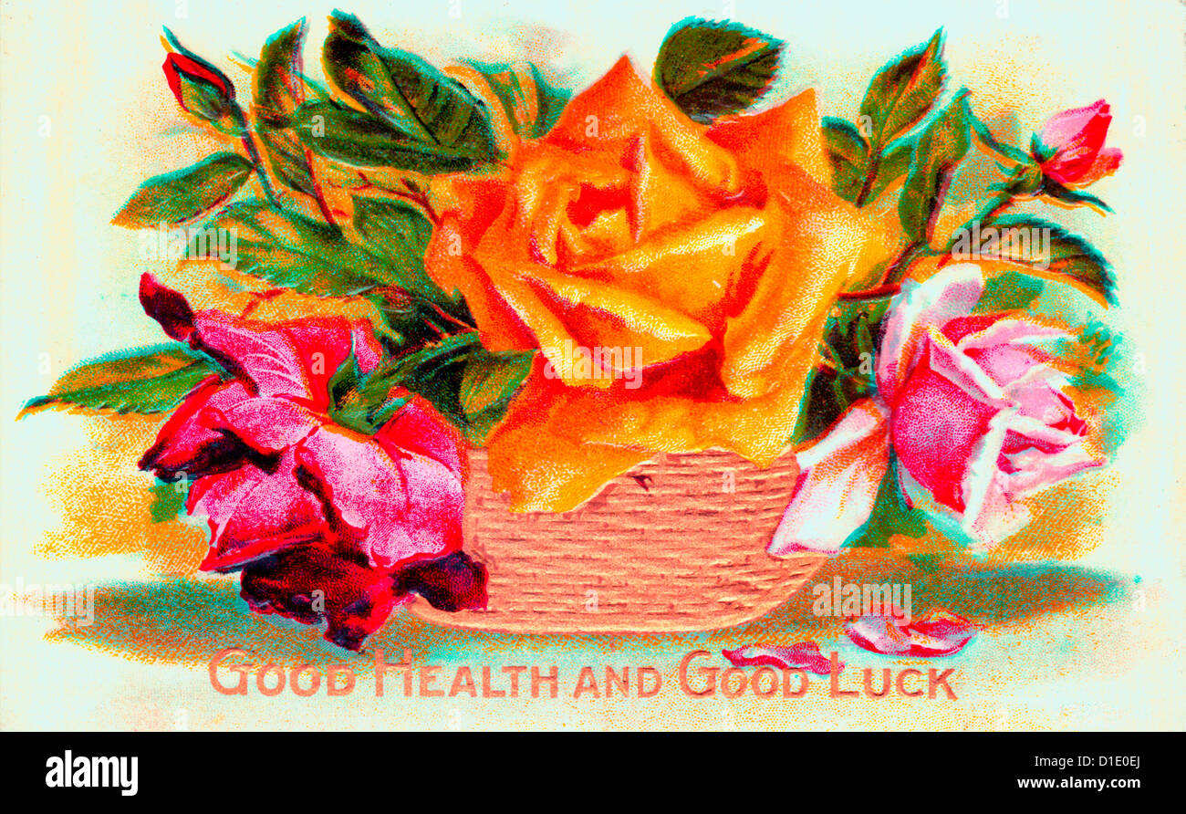 Good Health And Good Luck Best Wishes Card Stock Photo 52553498