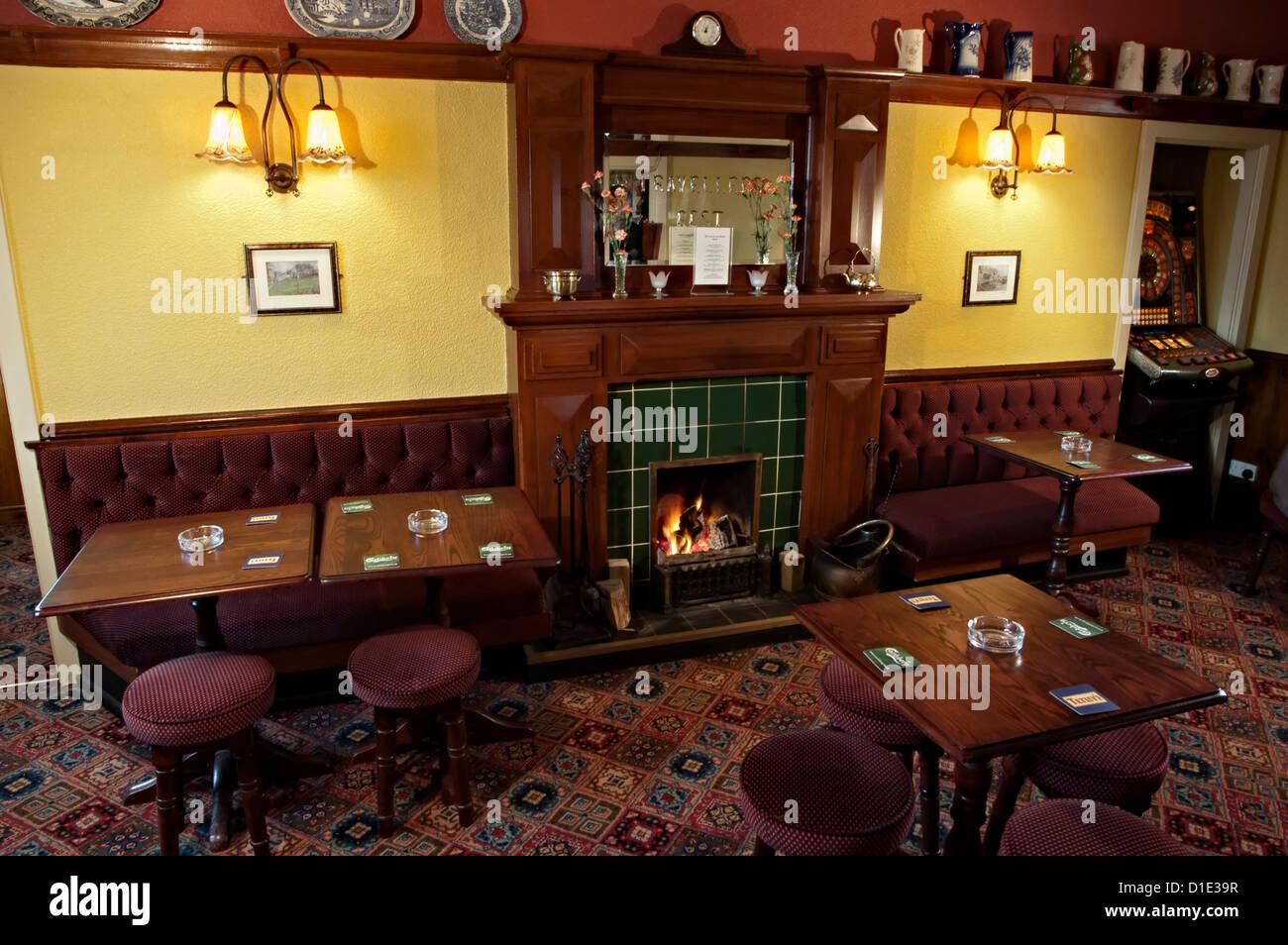 the travelers rest pub interior - Stock Image