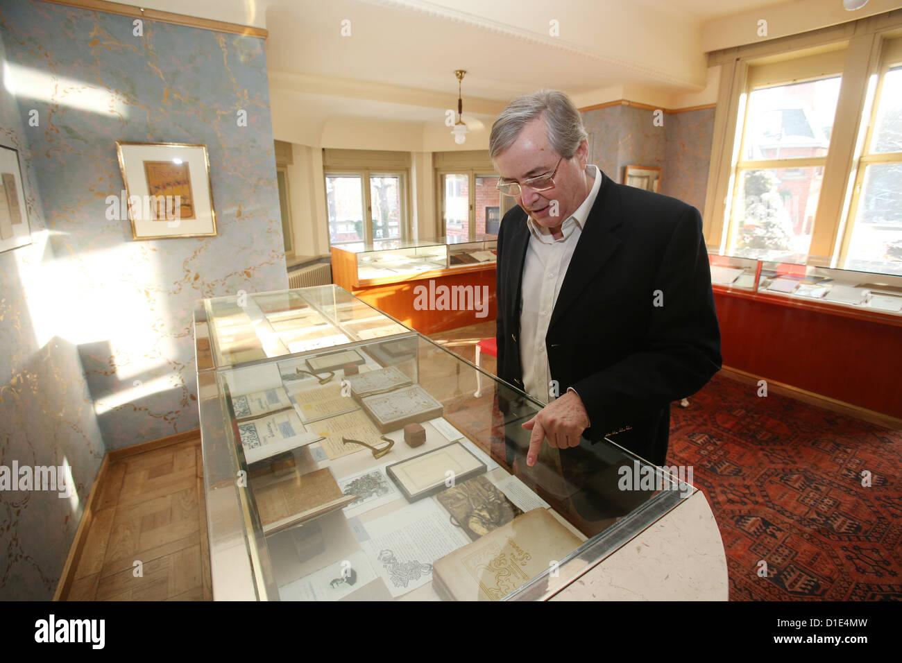 Owner of Haus Schulenburg, Volker Kielstein, shows design pieces by ...