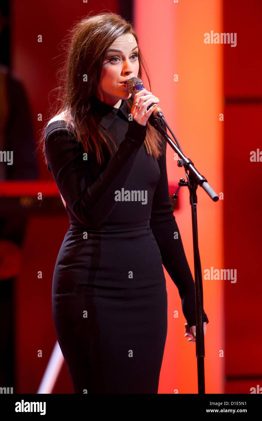 Die britische Sängerin Amy Macdonald tritt am 15.12.2012 in Berlin bei der Livesendung 'Ein Herz für - Stock Image