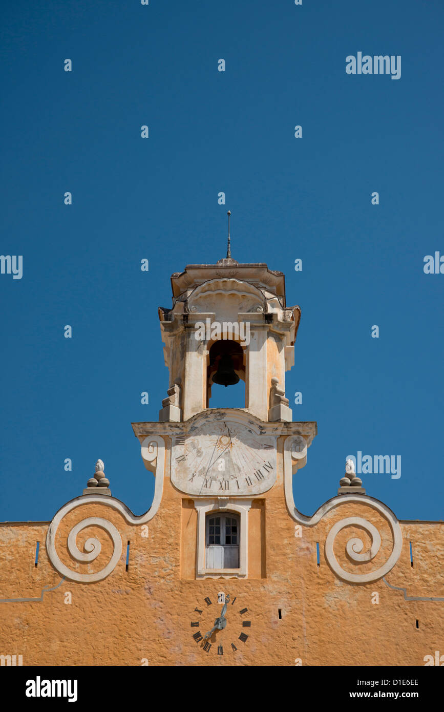 An old bell tower in the Terra Nova section of Bastia in northern Corsica, France, Europe - Stock Image