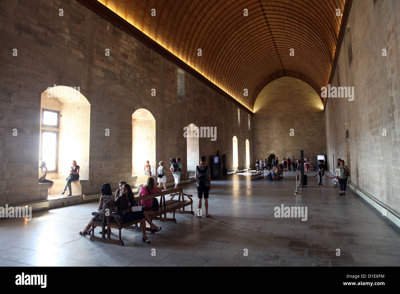 Main hall, Palais des Papes, UNESCO World Heritage Site, Avignon, Vaucluse, Provence, France, Europe - Stock Image