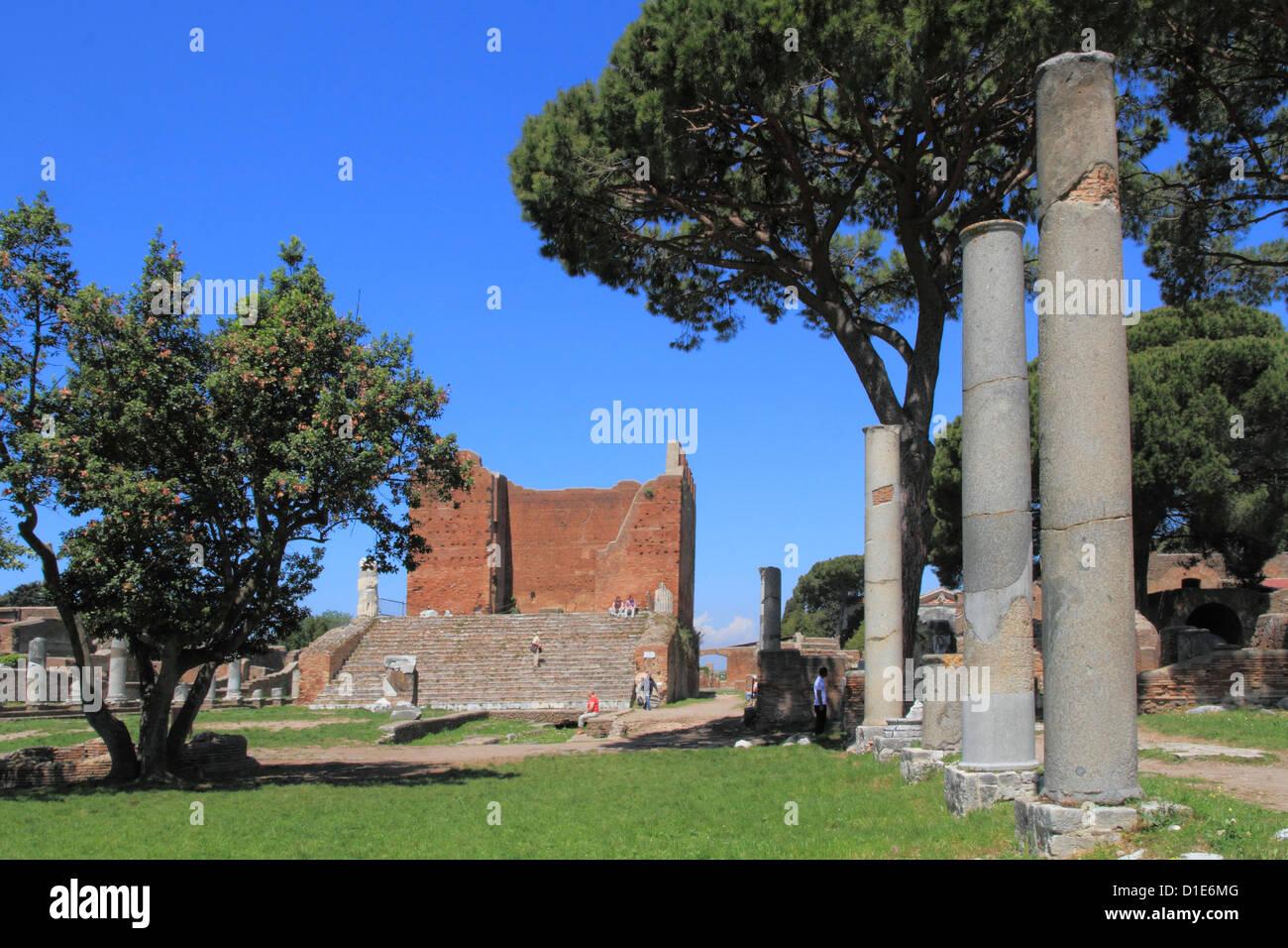 Forum and Capitol, Ostia Antica, Latium, Lazio, Italy, Europe - Stock Image