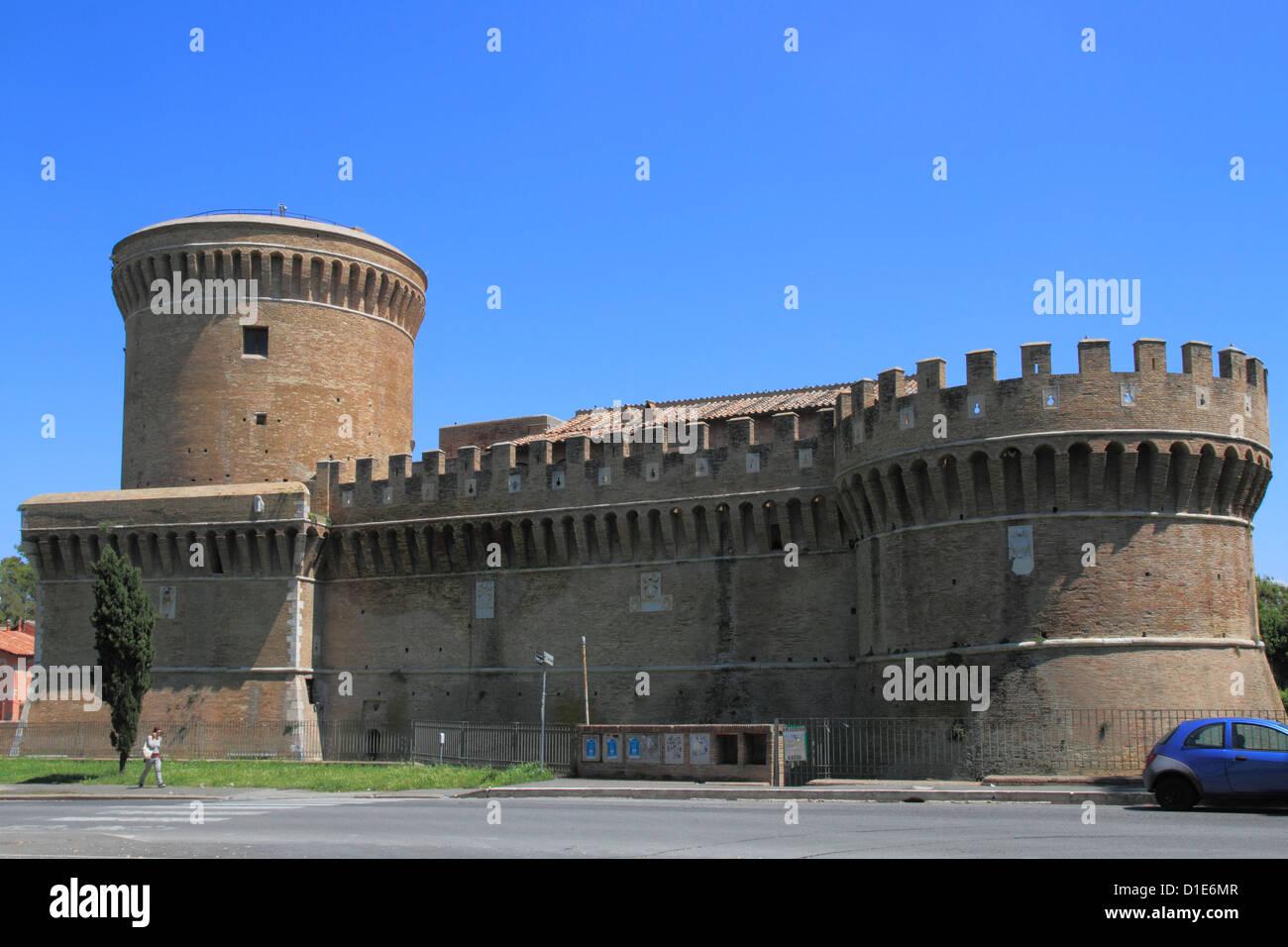 Castle, Ostia, Latium, Lazio, Italy, Europe - Stock Image