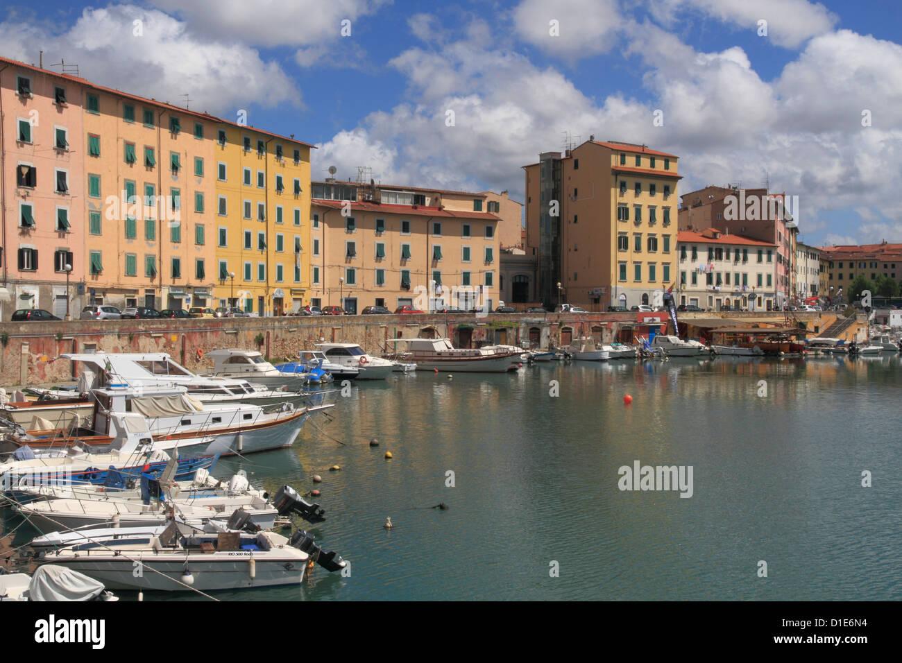 Fosso Reale, Livorno, Tuscany, Italy, Europe - Stock Image
