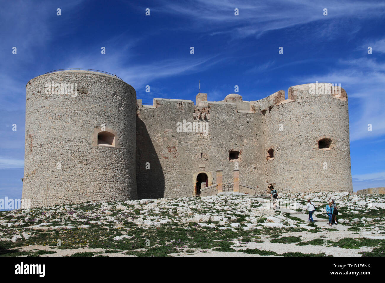 Chateau d'If, Marseilles, Bouches du Rhone, Provence, France, Europe - Stock Image