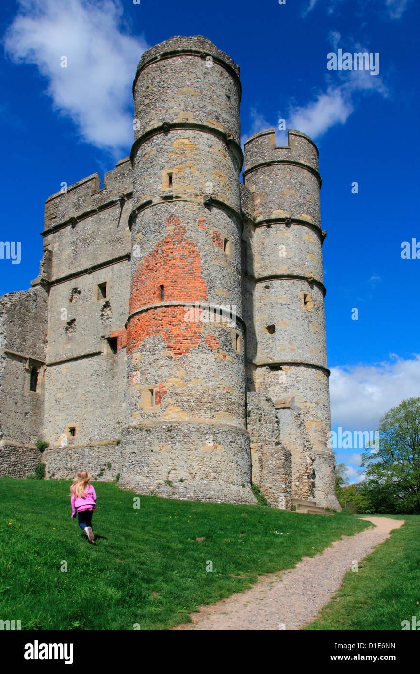 Donnington castle, Newbury, Berkshire, England, United Kingdon, Europe - Stock Image