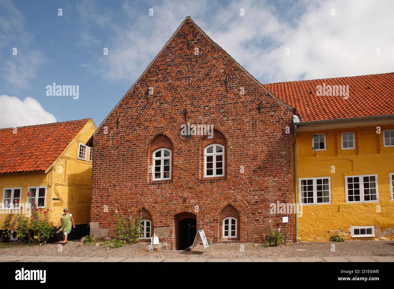 Old town hall, Kalundborg, Sjaelland, Denmark, Scandinavia, Europe - Stock Image