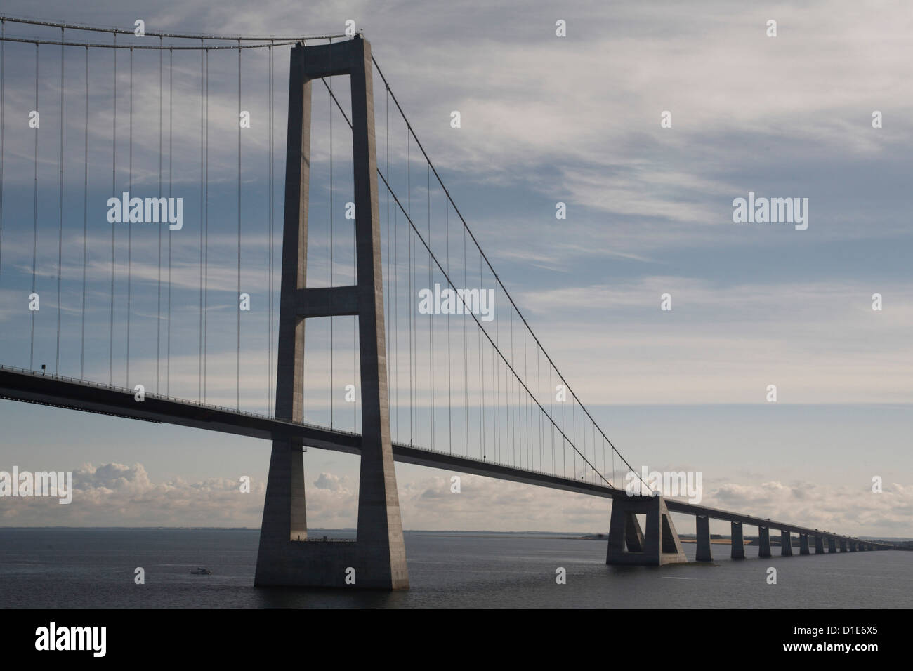 Great Belt Bridge, between Fyn and Sjaelland, Denmark, Scandinavia, Europe - Stock Image