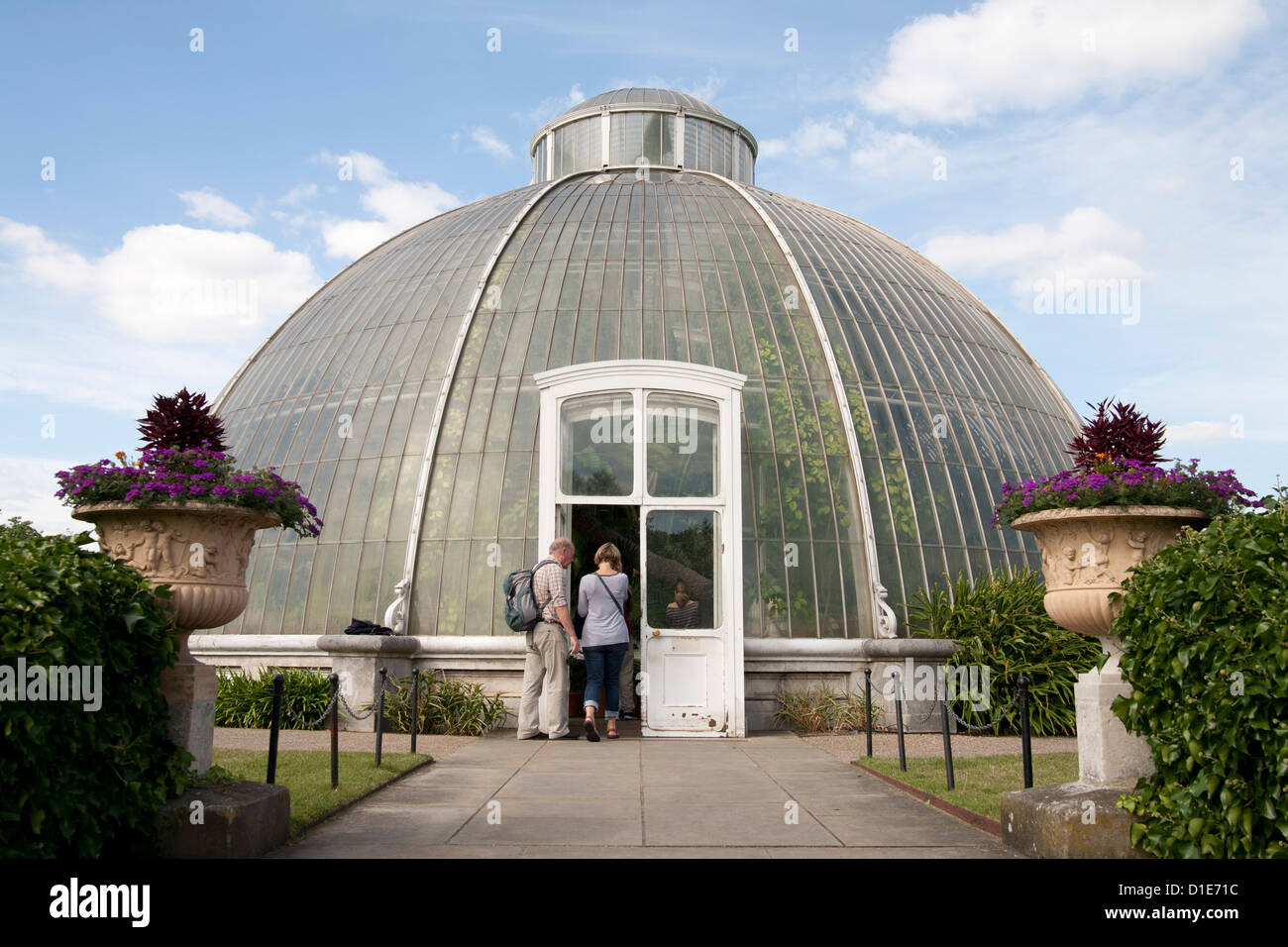 Palm House Dome, Royal Botanic Gardens, UNESCO World Heritage Site, Kew, near Richmond, Surrey, England, United - Stock Image