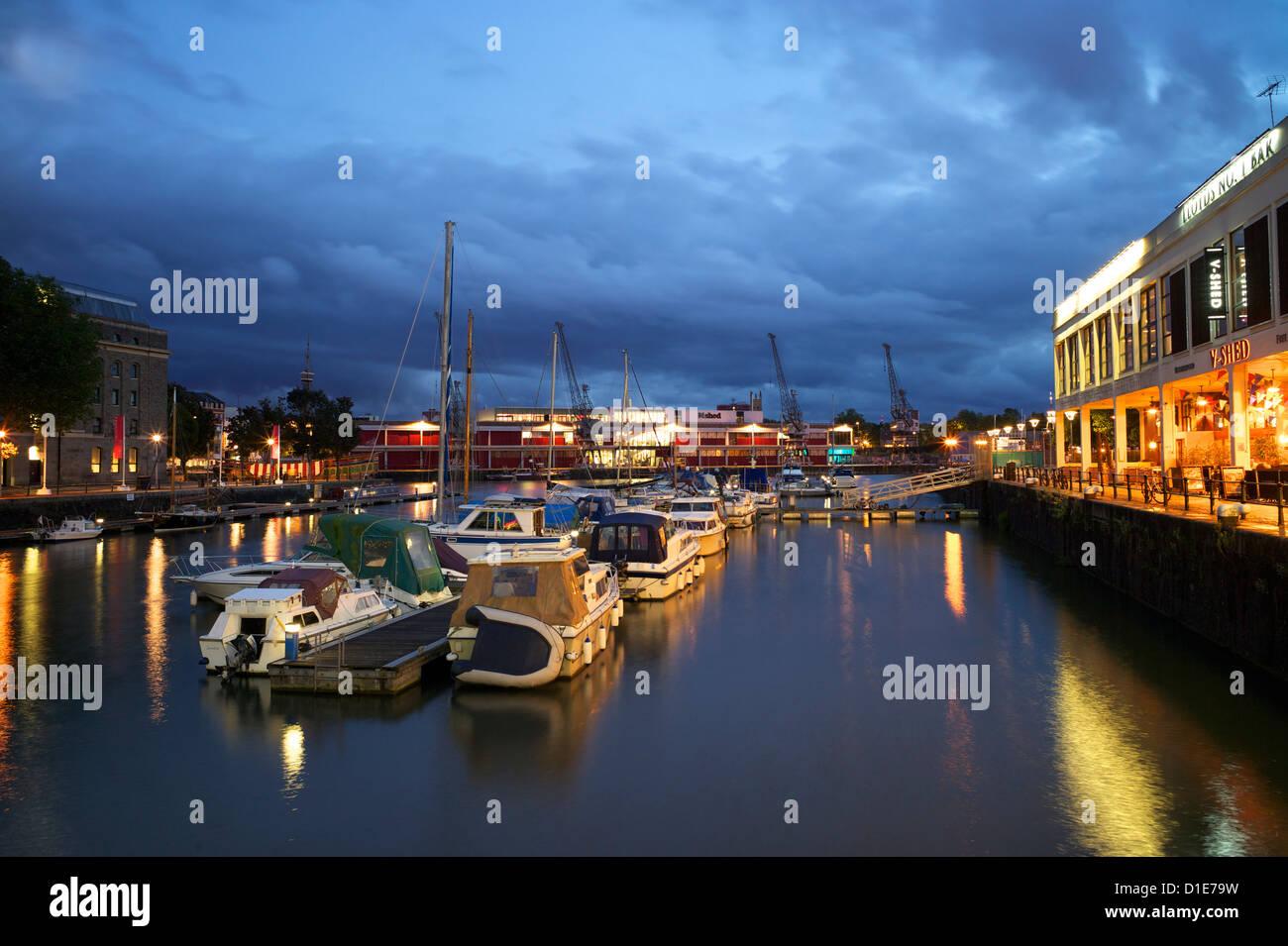 St. Augustine's Reach, harbour, Bristol, England, United Kingdom, Europe - Stock Image
