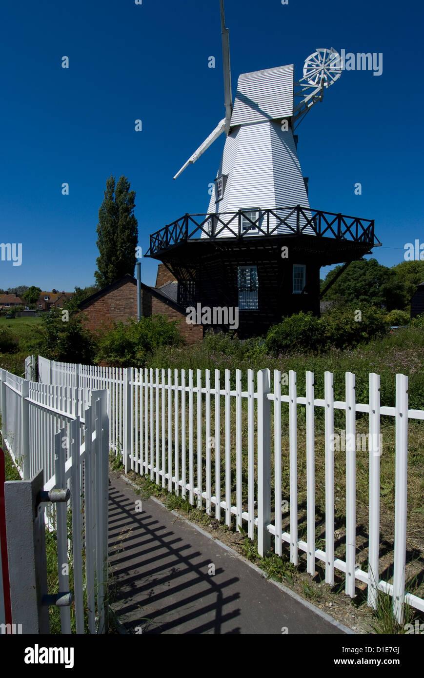 Rye windmill, Rye, East Sussex, England, United Kingdom, Europe - Stock Image
