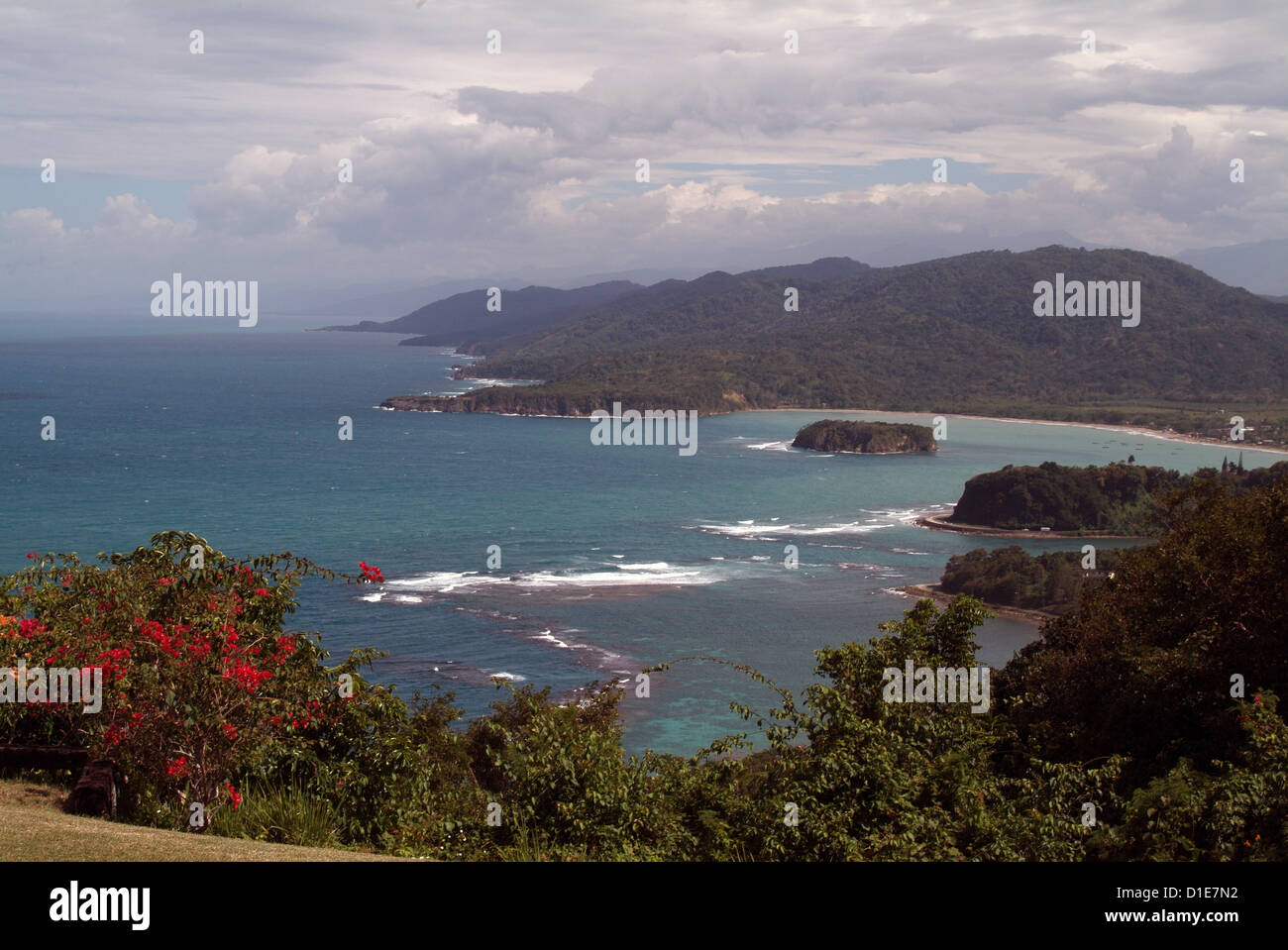 View from Noel Coward's home, Firefly, Port Maria, Jamaica, West Indies, Caribbean, Central America - Stock Image