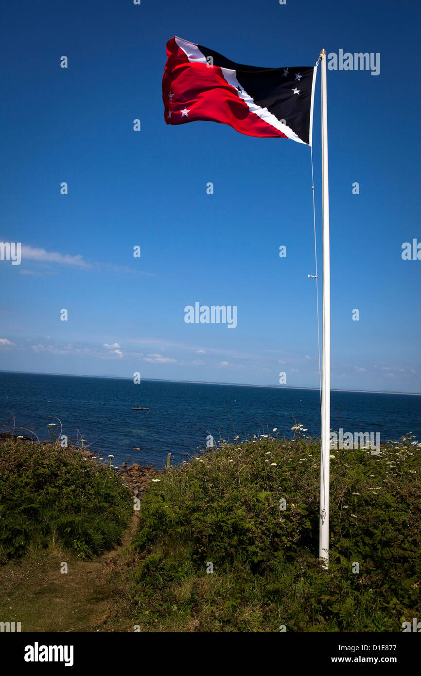 Flag of the Prince of the Saltee Islands, on Great Saltee off the coast of Co. Wexford, Ireland. This - Stock Image