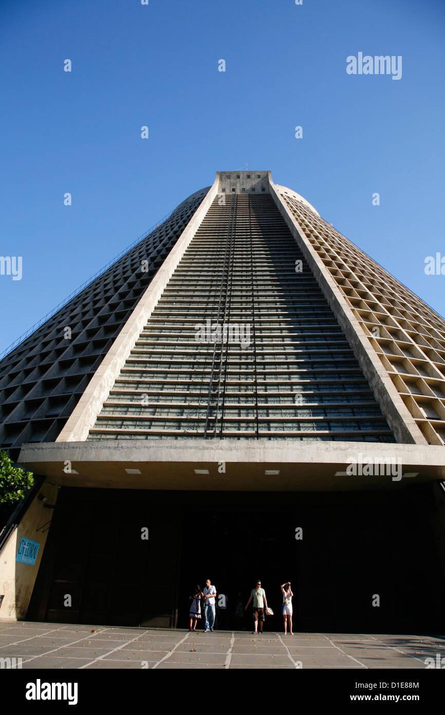 Catedral Metropolitana, Rio de Janeiro, Brazil, South America - Stock Image