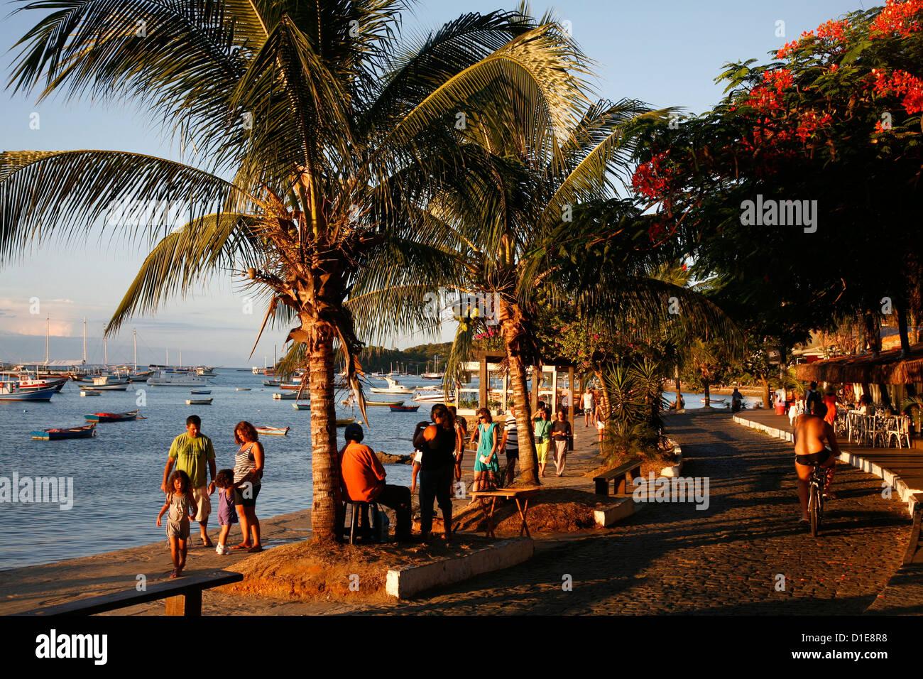 8472265d15ffb People walking on Orla Bardot promenade, Buzios, Rio de Janeiro State,  Brazil, South America