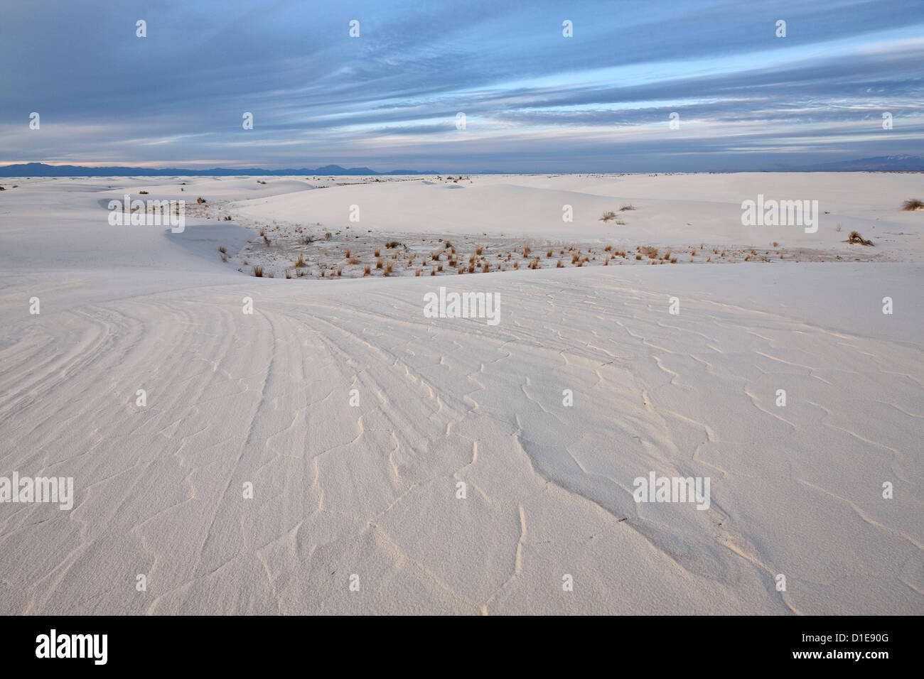 Patterns in the dunes, White Sands National Monument, New Mexico, United States of America, North America Stock Photo