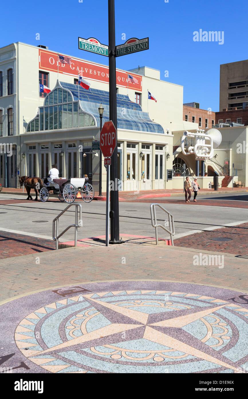 Old Galveston Square, Historic Strand District, Galveston, Texas, United States of America, North America - Stock Image