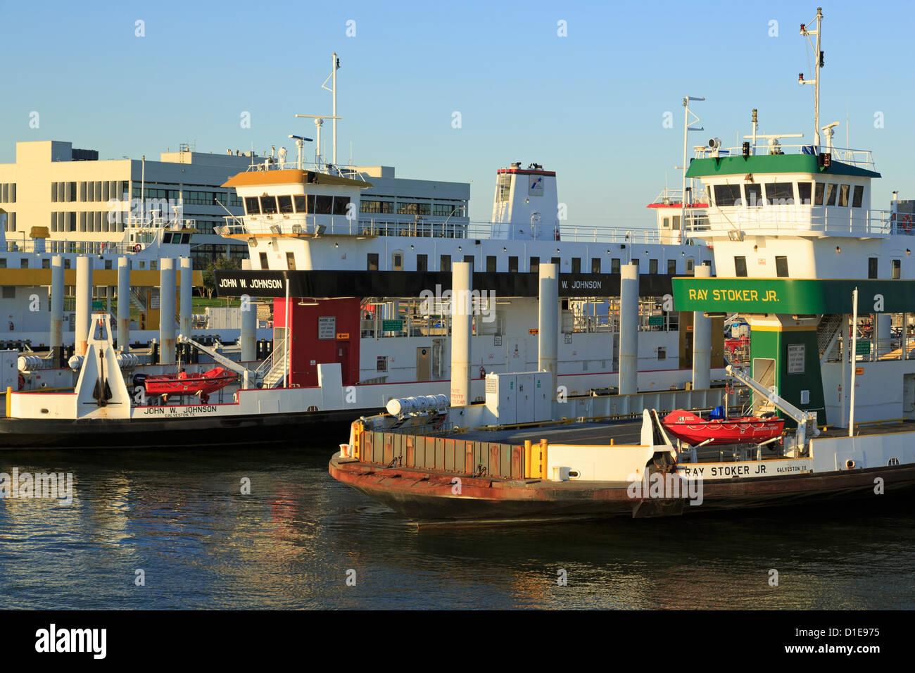 Port Bolivar Ferry, Galveston, Texas, United States of America, North America - Stock Image