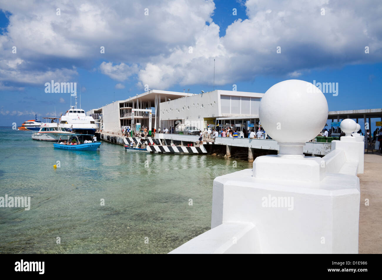 San Miguel ferry terminal on Cozumel Island, Quintana Roo, Mexico, North America - Stock Image