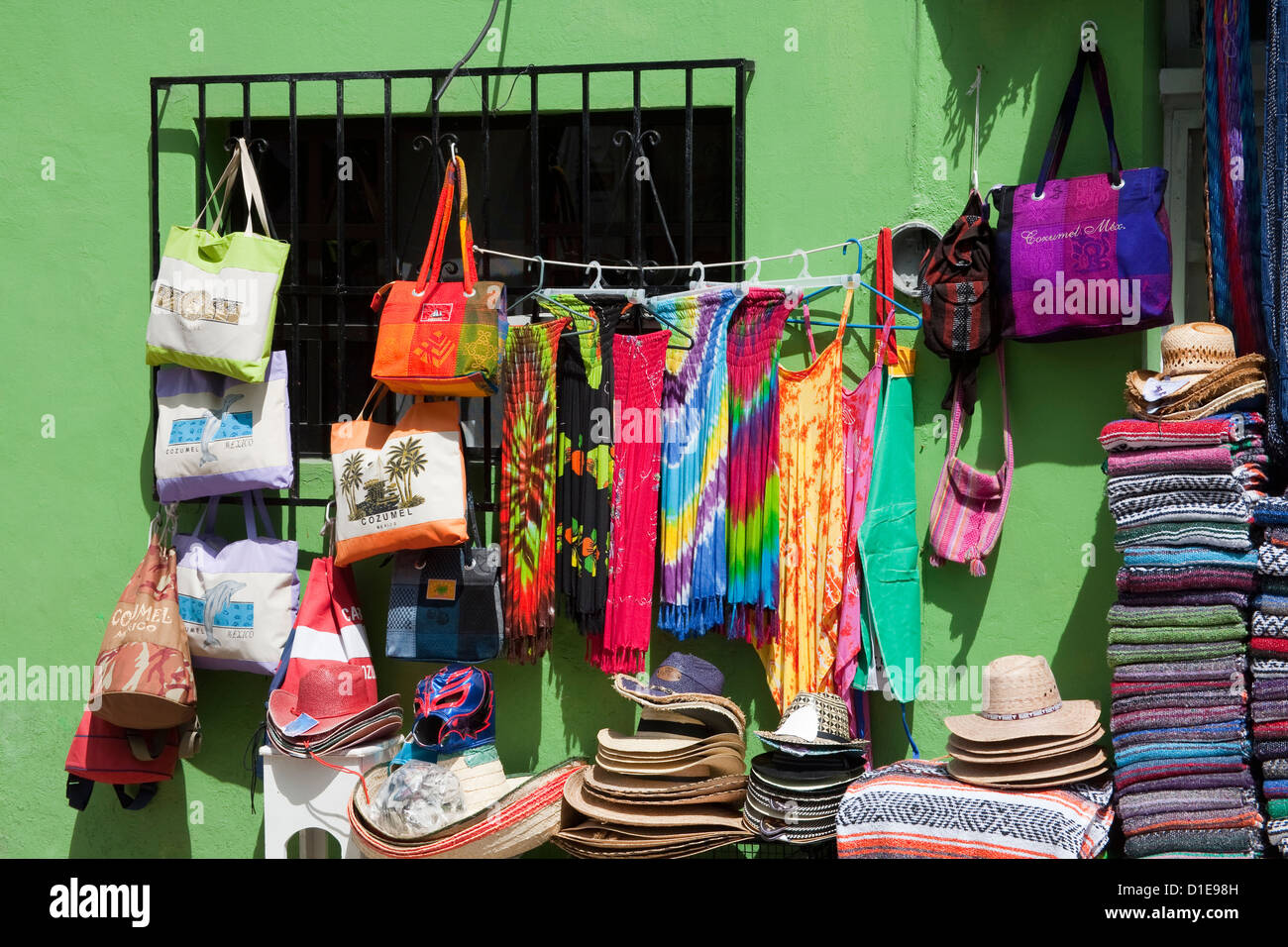 Craft store in San Miguel, Cozumel Island, Quintana Roo, Mexico, North America - Stock Image