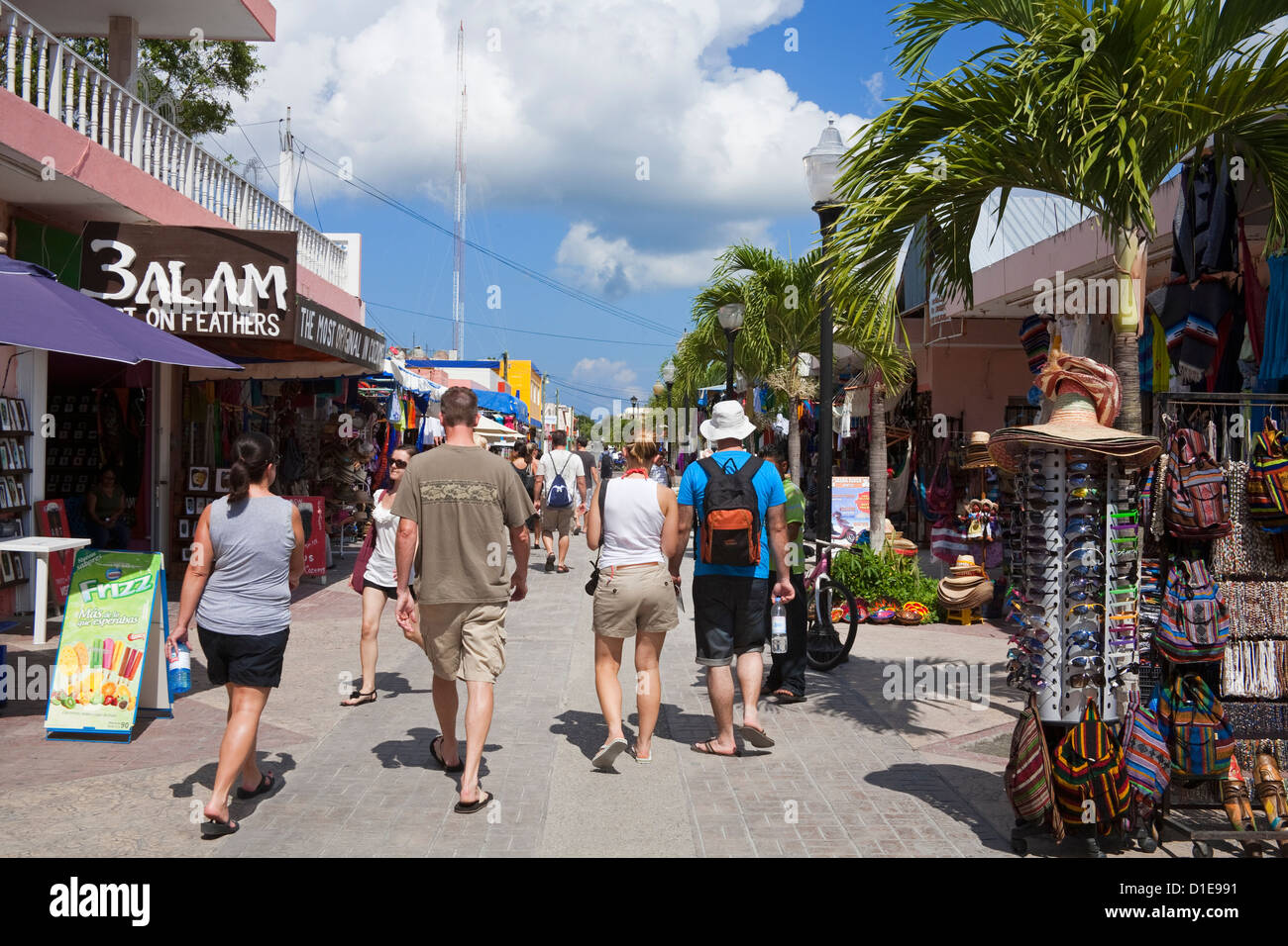 Downtown San Miguel, Cozumel Island, Quintana Roo, Mexico, North America - Stock Image