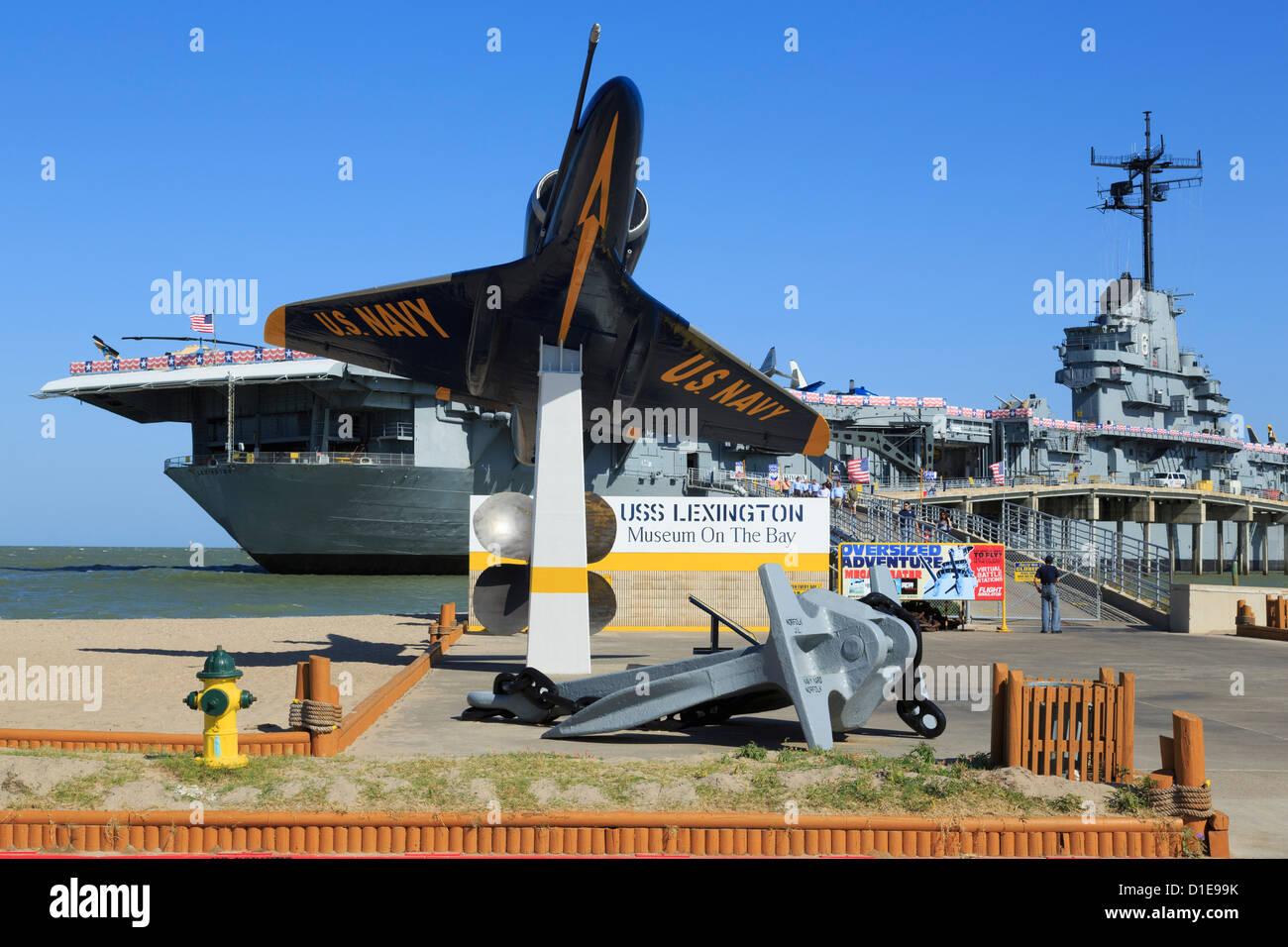 USS Lexington Museum On The Bay, North Beach, Corpus Christi, Texas, United States of America, North America - Stock Image