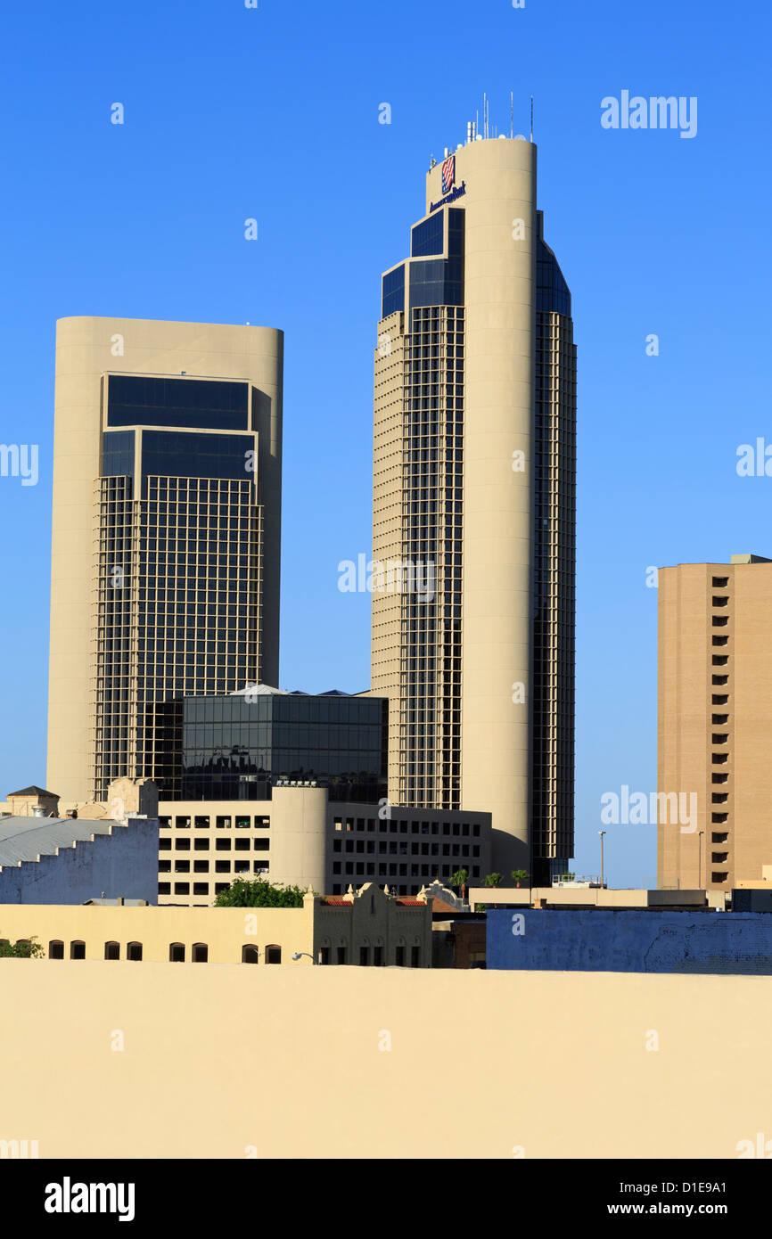 Downtown skyscrapers, Corpus Christi, Texas, United States of America, North America - Stock Image