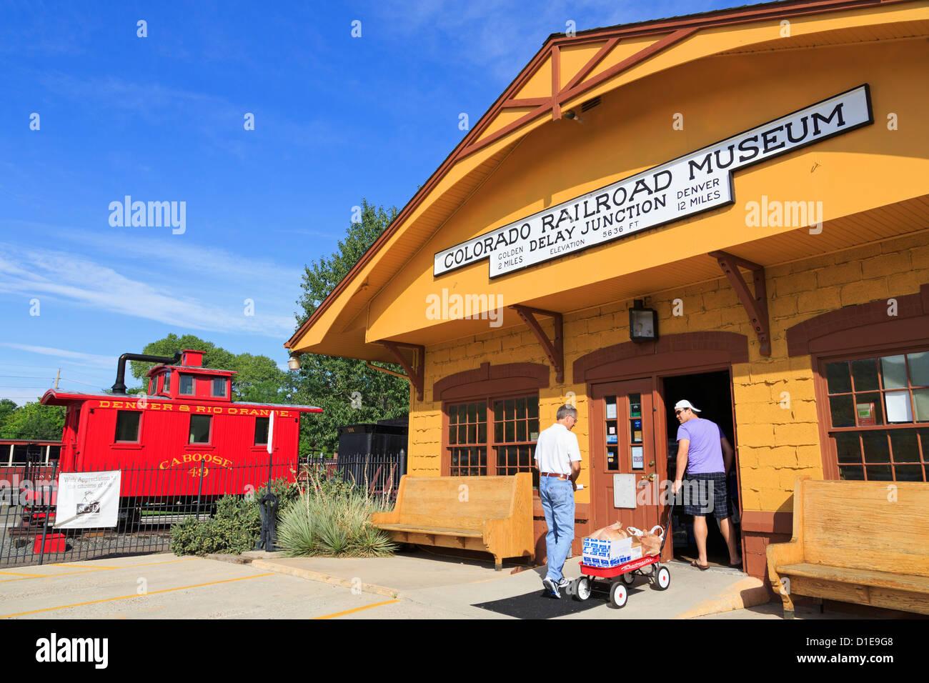 Colorado Railroad Museum, Golden, Colorado, United States of America, North America - Stock Image
