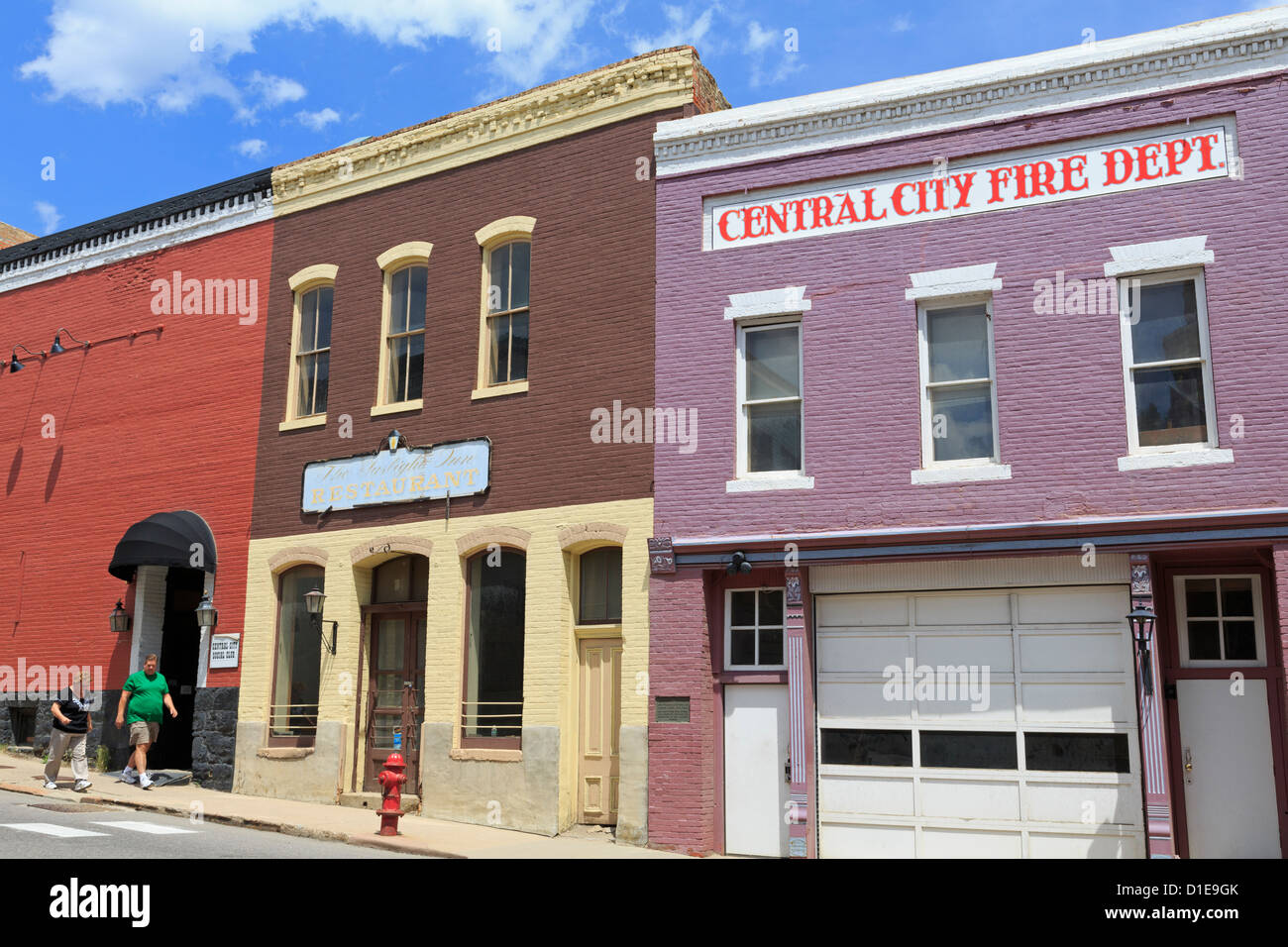 Central City Fire Department, Central City, Colorado, United States of America, North America - Stock Image