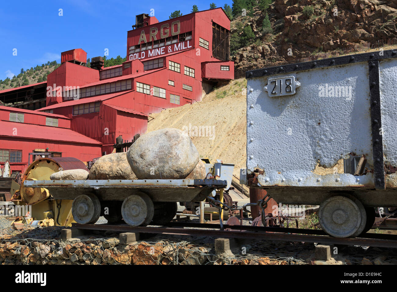 Argo Gold Mine and Mill Museum, Idaho Springs, Colorado, United States of America, North America - Stock Image