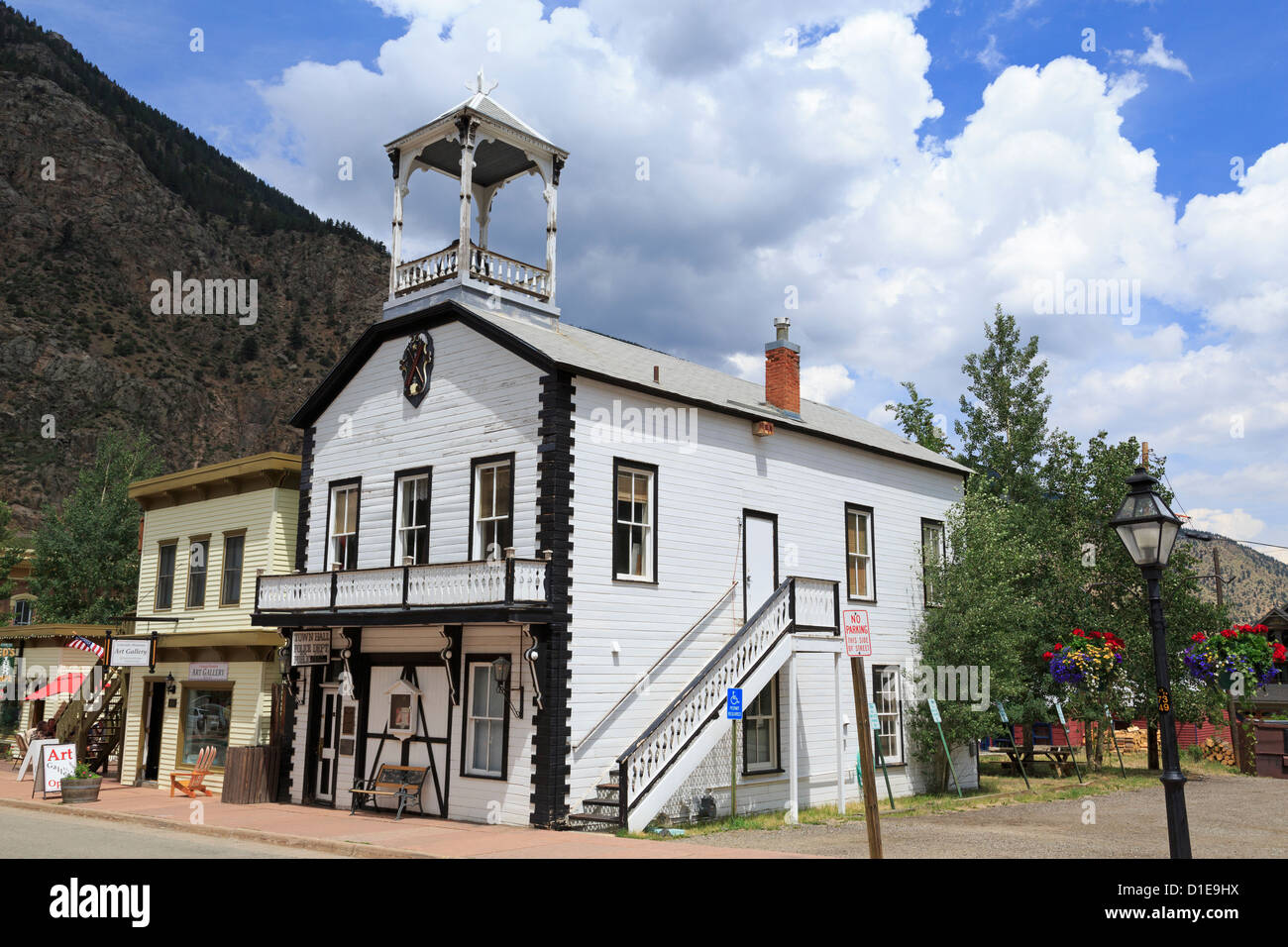 Town Hall, Georgetown, Colorado, United States of America, North America - Stock Image