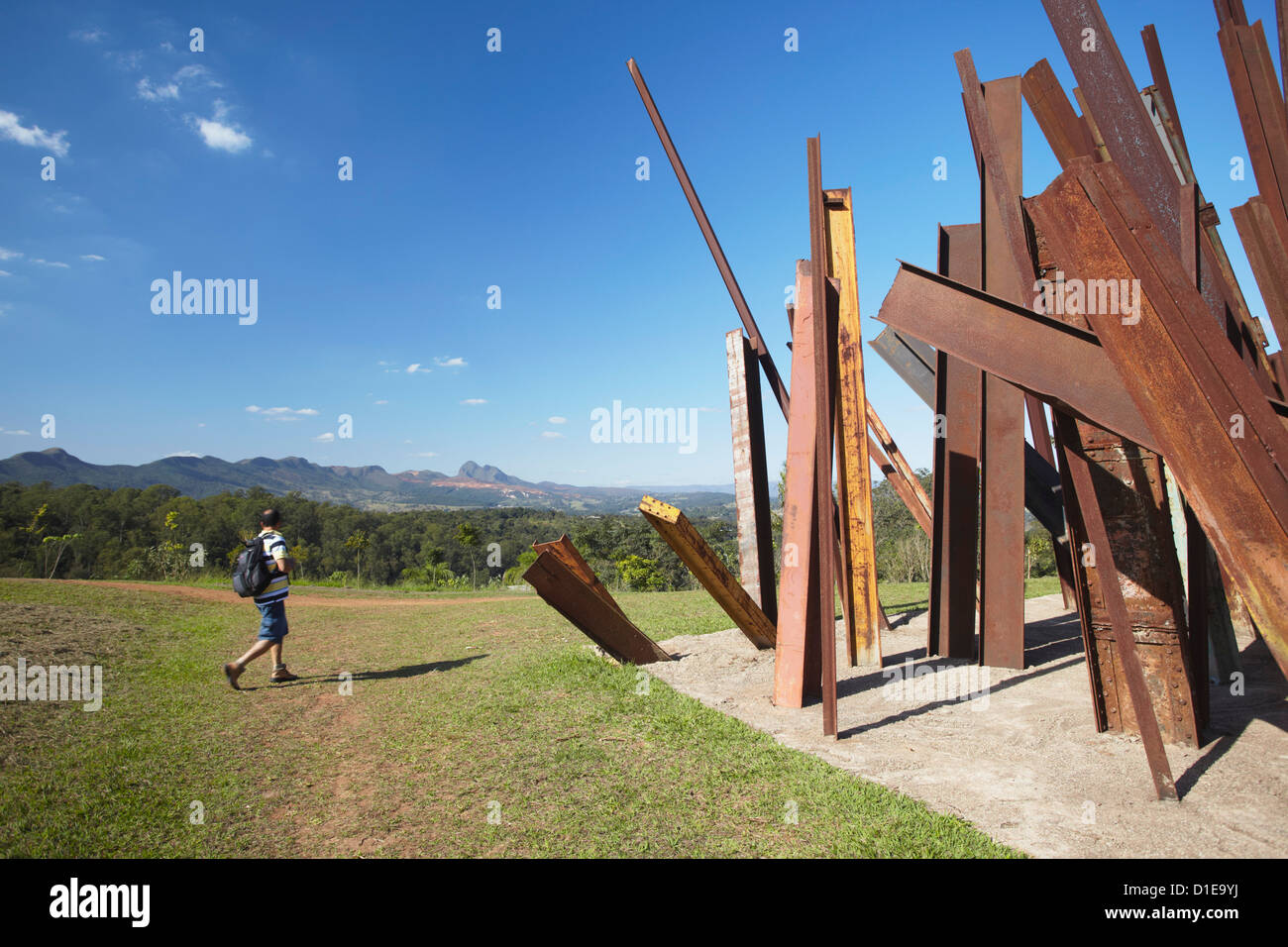Modern art by Chris Burden at Centro de Arte Contemporanea Inhotim, Brumadinho, Belo Horizonte, Minas Gerais, Brazil - Stock Image