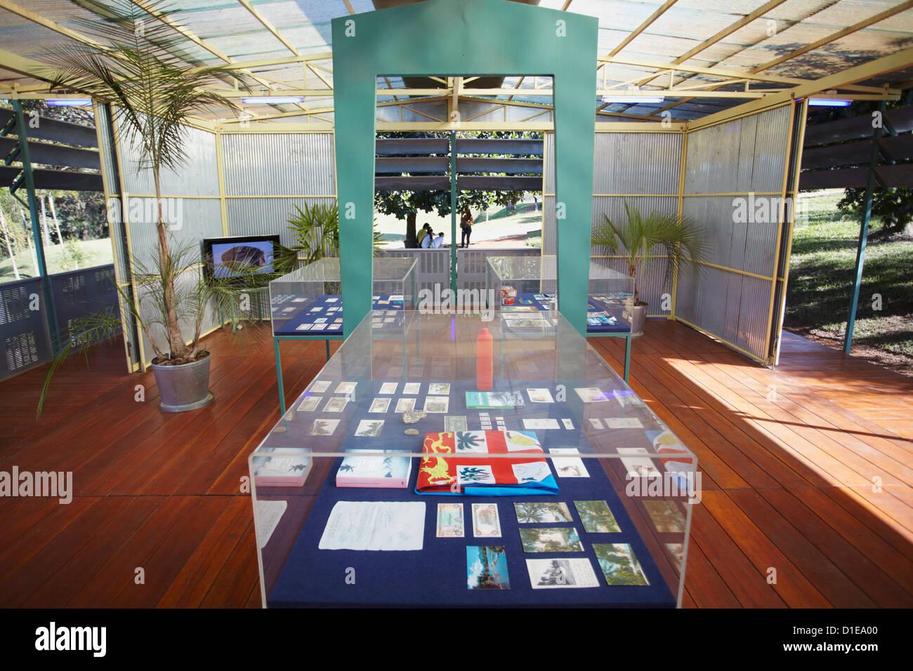 Modern art pavilion by Rirkrit Tiravanija at Centro de Arte Contemporanea Inhotim, Belo Horizonte, Minas Gerais, - Stock Image