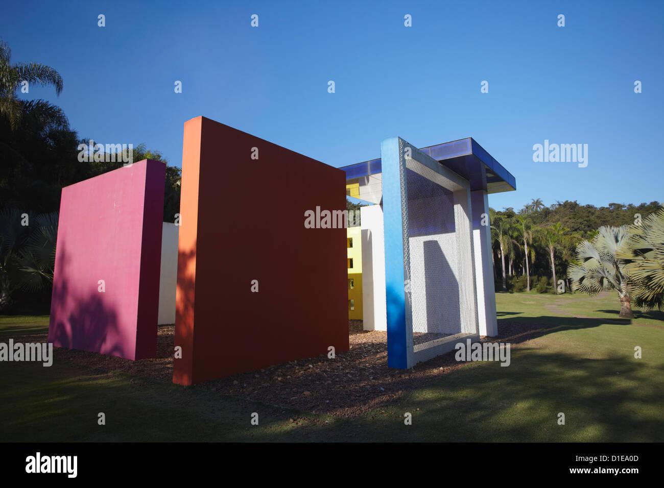 Modern art by Helio Oiticica at Centro de Arte Contemporanea Inhotim, Brumadinho, Belo Horizonte, Minas Gerais, - Stock Image