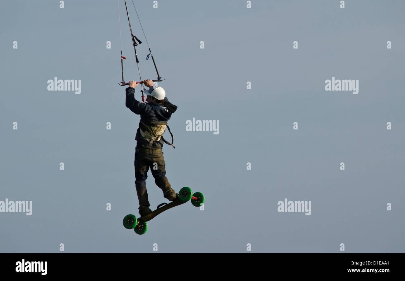 Extreme sport Landboarding - Stock Image