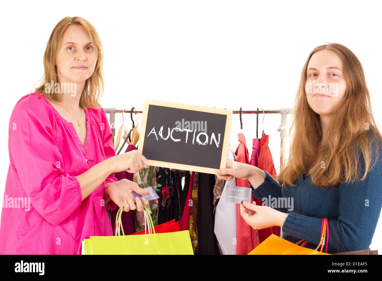 People on shopping tour: auction - Stock Image