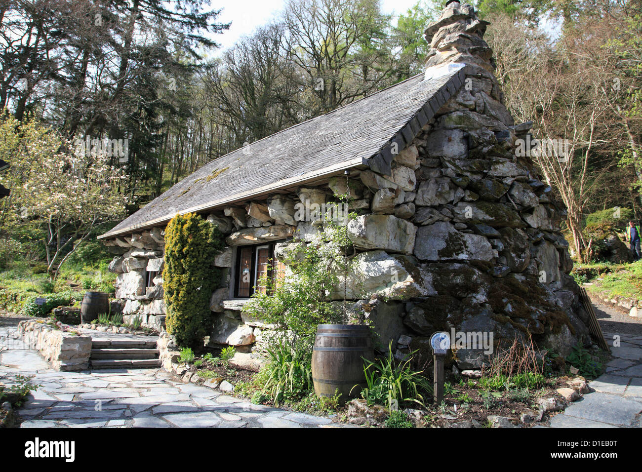 The Ugly House, Ty Hyll, Snowdonia National Park, Snowdonia, North Wales, Wales, United Kingdom, Europe - Stock Image