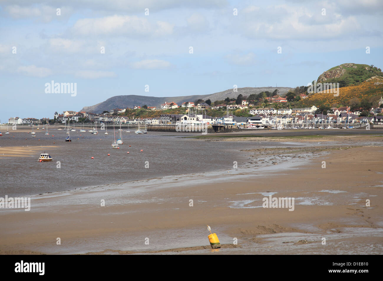 River Conwy estuary, Conwy, North Wales, Wales, United Kingdom, Europe Stock Photo