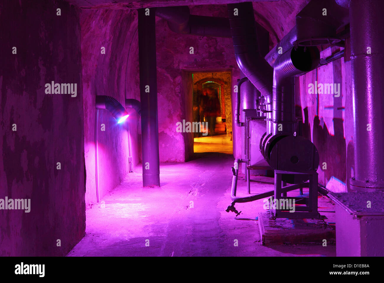 Cold War era display in the Bastion Passages, underground and once part of the defences of Tallinn, Estonia, Europe - Stock Image
