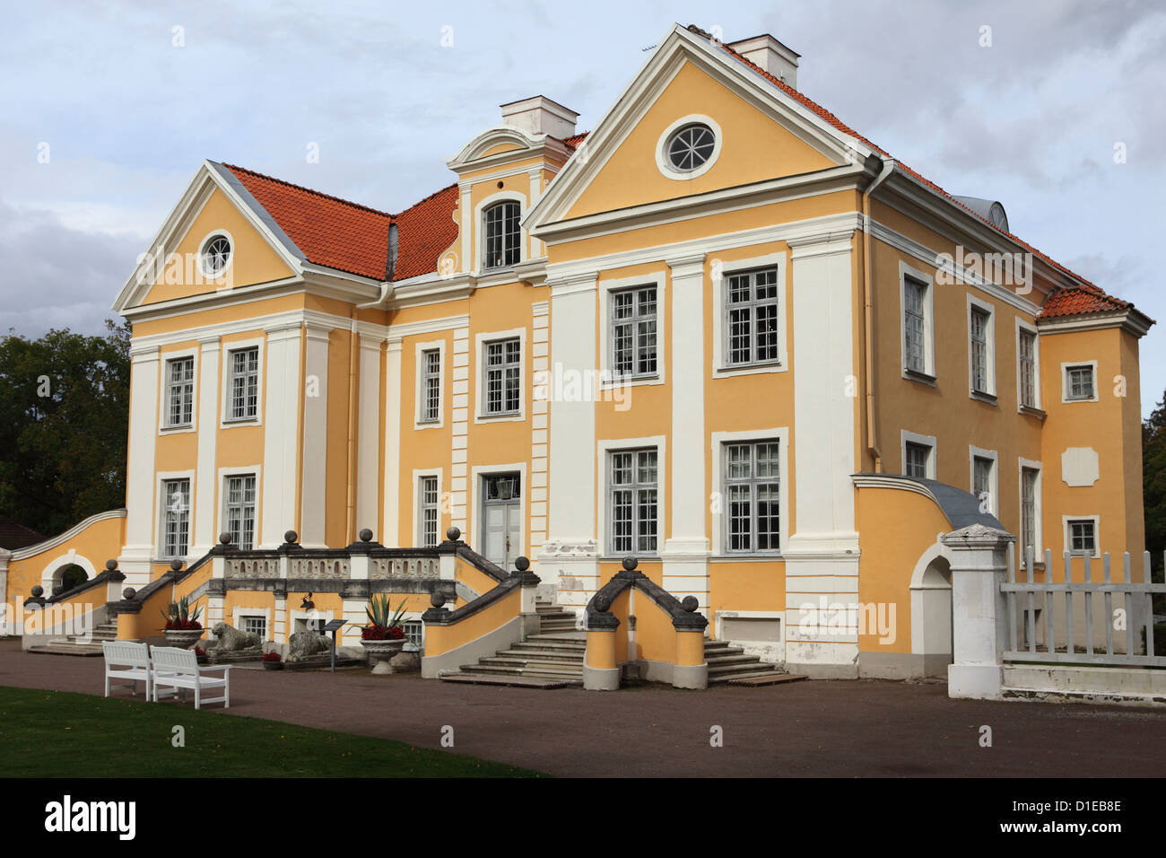 Palmse Manor, built by a Baltic German family, today part of the Museums of Virumaa Foundation, Lahemaa National - Stock Image