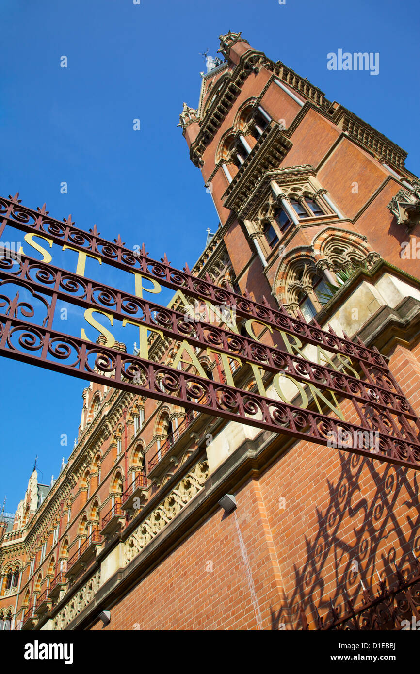 Entrance, St.Pancras International Station, London, England, United Kingdom, Europe - Stock Image